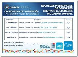 Días y horarios para tramitar la tarjeta Municipal Única