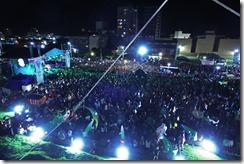 Cientos de personas vieron el recital de Venegas en Santa Teresita