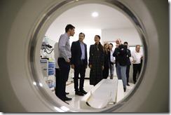 Durante la recorrida se pudo ver parte de la aparatología con la que cuenta el Hospital